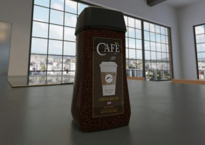 Industrial design 3d Rendering of coffee container, product design, packaging design © Moises Araya